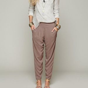Free People Easy Pleat Rayon Jogger Pant L